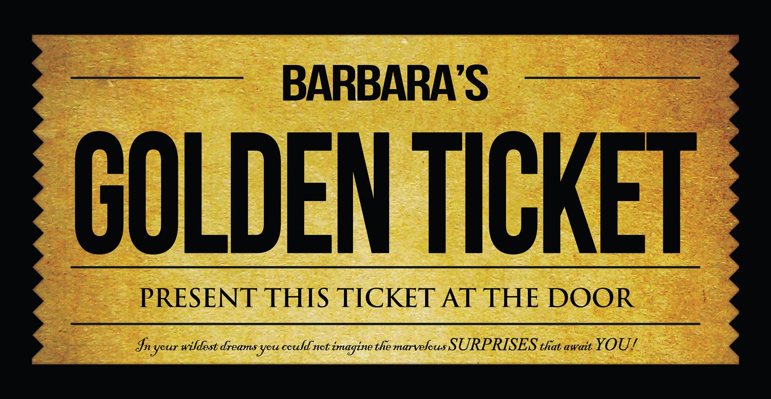 golden ticket template editable - willy wonka golden ticket invitation