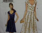 Dress & Sash - 2000's - Very  Pattern 8446 Uncut  Sizes 12-14-16-18  Bust  34-36-38-40""