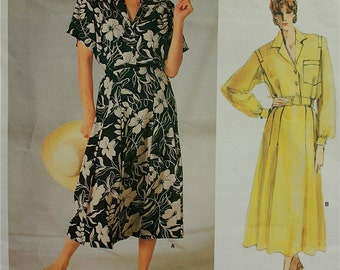 "1980s Designer Dress  by Ralph Lauren Vogue American Designer Pattern 1722  Uncut   Sizes 8  Bust 31.5"""