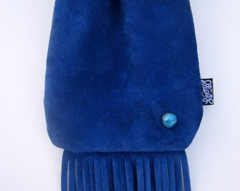 Blueberry Turquoise Pie Loopyq Neck Pouch, Medicine Bag, Tobacco Pouch, Hipbag, FannyPouch