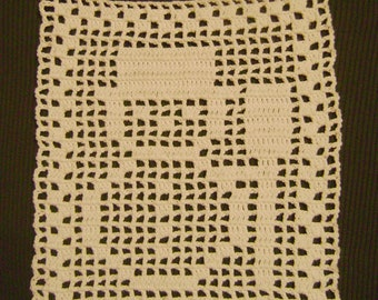 Snowman white table cover decoration doily centerpiece crochet handmade