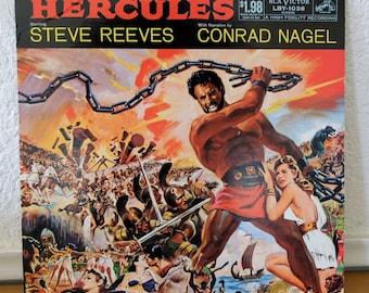 Hercules Soundtrack Record - Rare Vintage Vinyl LP 1959