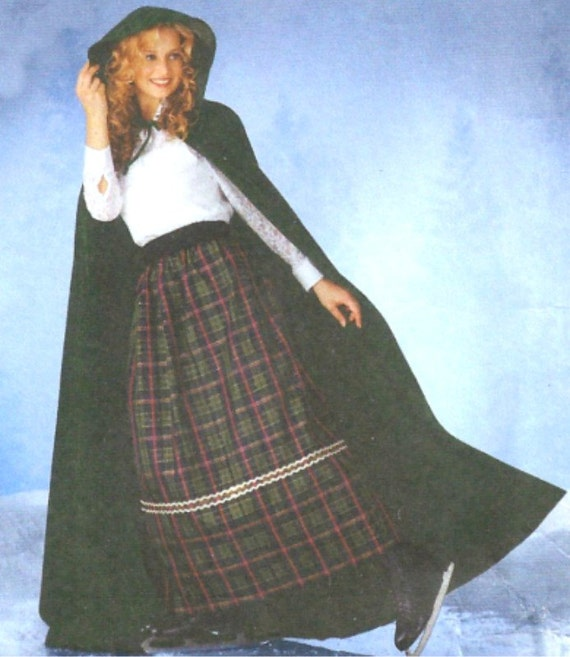 Simplicity Long Hooded Cape Pattern 5794 Sizes extra small, small, medium, large Teresa Nordstrom UNCUT