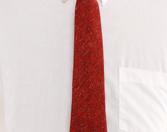 1960s Red Wool Knit Necktie by Garrison