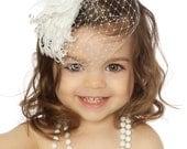 Vintage Headband, Christening Headband, Baptism Headband, Flowergirl Headband