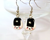 Kawaii Onigiri Earrings, Cute :D Choice of Sterling Silver Hooks