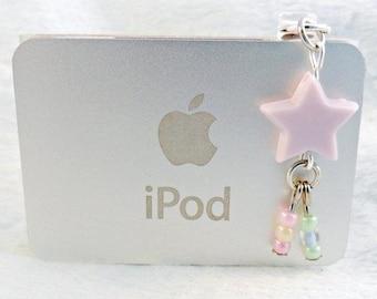 Fairy Kei Shooting Star Dust Plug, For iPhone or iPod, Phone Plug, Candy Pastels, Cute & Kawaii :)