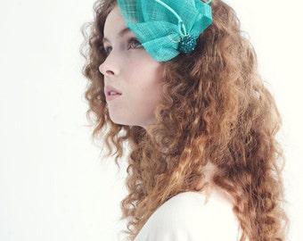 LADY JEWEL fascinator, crystal fascinator, wedding fascinator, bridal shower fascinator, wedding headpiece, bridal headpiece, high tea