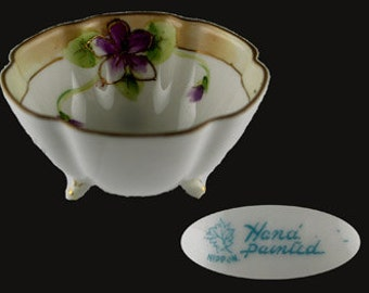 Vintage Nippon Floral Hand Painted Individual Nut Dish