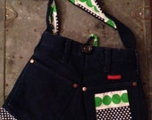 Green Polka Dots Denim Re-Cycled Purse from Wrangler Jeans