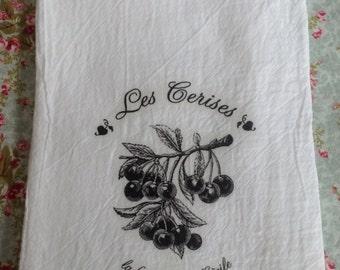 French Cherries Kitchen Towel