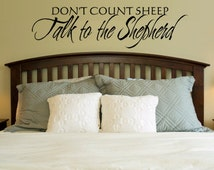 Vinyl Letter Sticker Talk to the Shepherd 0009