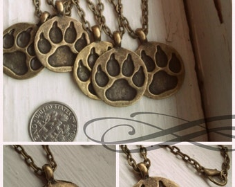 Top Dog - Paw Print Necklace