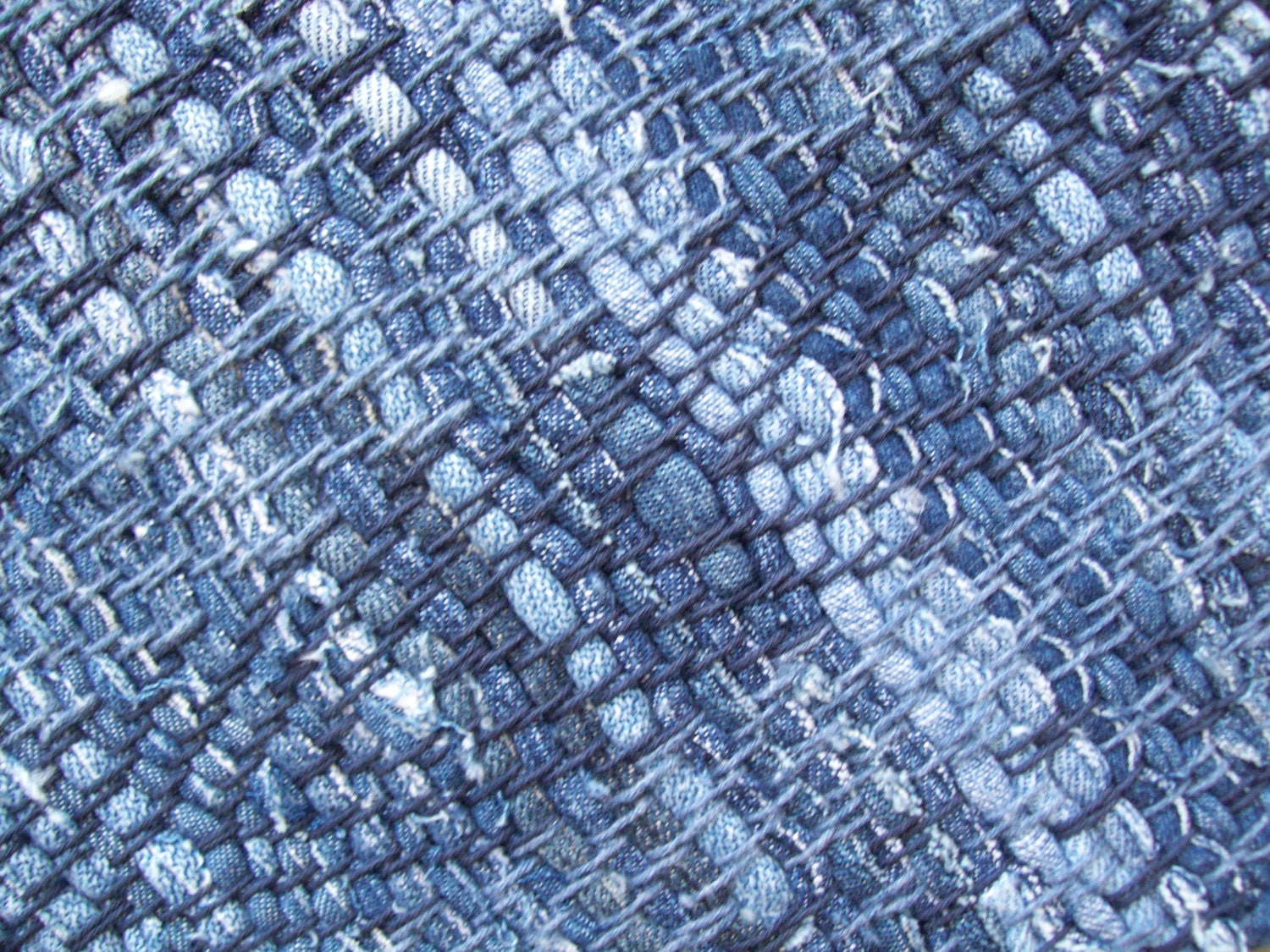 Rag Rug Denim Recycled Blue Jeans