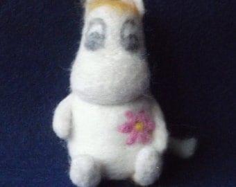 Snork  Maiden - Moomintroll Needle Felted Figure