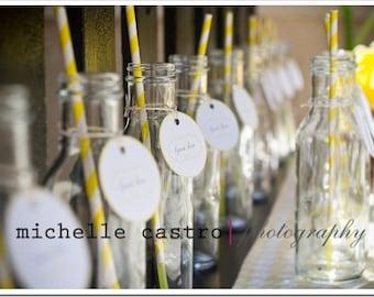 Vases, Drinking Vintage Milk Bottles, Glass, Set of 24, Favors, Weddings, Valentines, Easter, St. Patty's, Baby, Showers, Bridal, Mason Jars