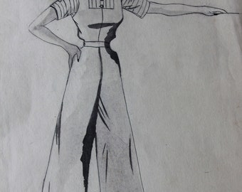 Fashion Drawings from the 1940's