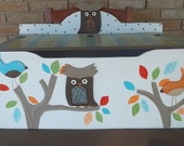 Tree top bedding owl Toychest Toy Box any color