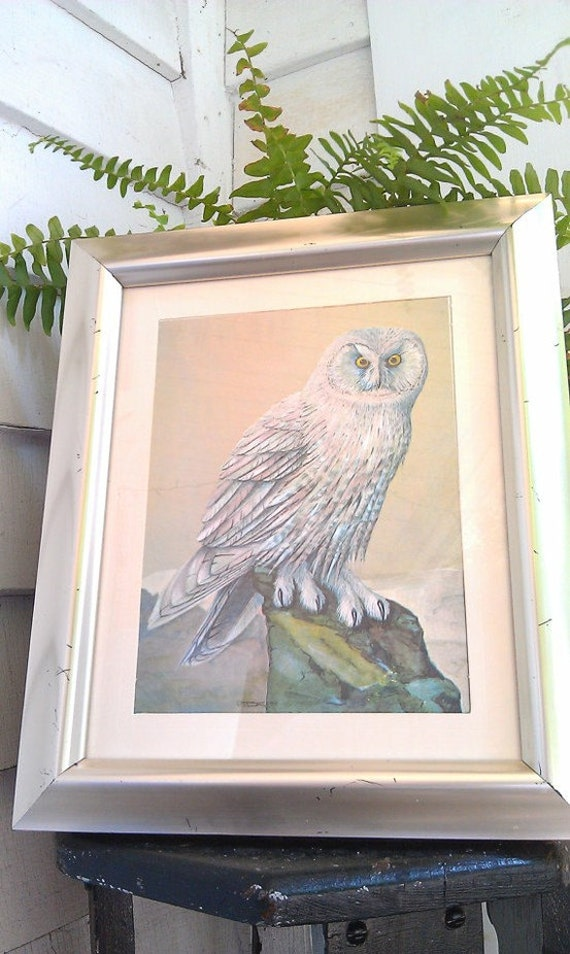 Snowy Owl Print- Dufex Foil Art Print- Made in England