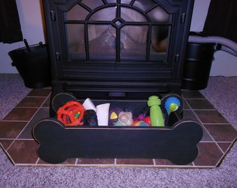 Doggie Toy Box Primitive (dog bone) Custom Made