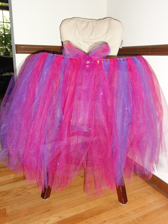 items similar to high chair glitter tulle tutu skirt on etsy