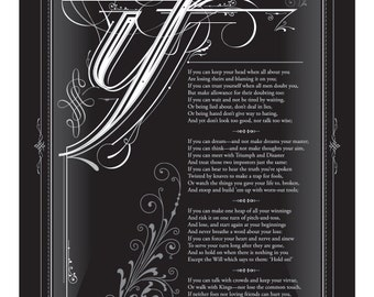 IF, by Rudyard Kipling framed poster