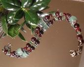Garnet and aventurine bracelet