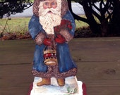Coventry Santa Standing in Snow with Blue Coat