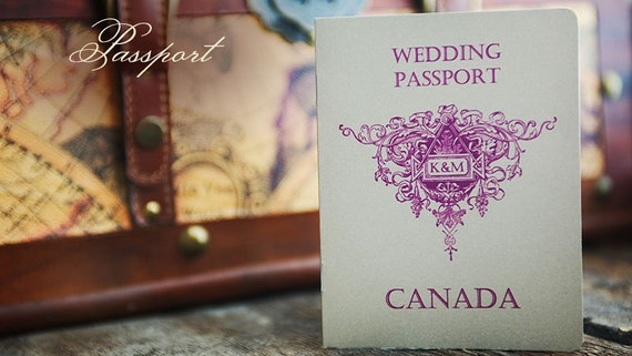 Destination Wedding Invitation Wording Samples: Sample Passport Destination Wedding Invitation