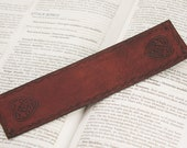 Celtic Leather Bookmark - Heart