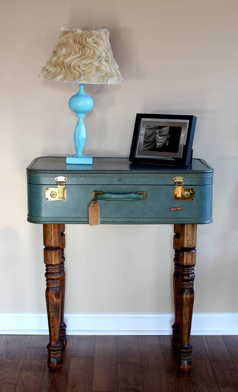 Vintage Suitcase Table Side Table Storage