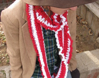 Peppermint Striped Scarf