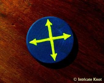 Four Directions Travel Miniature Art -  Pocket Charm - OOAK