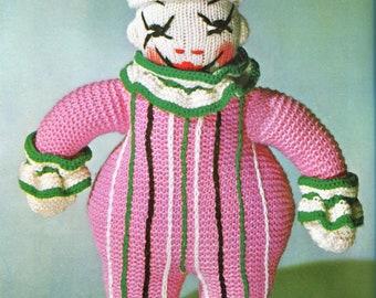 Cheeky Knit Clown Amigurumi Pattern