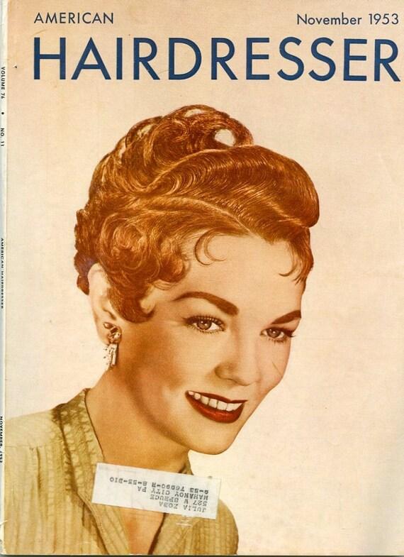 American Hairdresser Magazine, Lot of Four Vintage Beauty Salon Periodicals, published Jan/Feb/Apr/Nov 1953