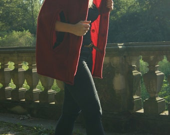 Red Cape, Poncho, Red Riding Hood