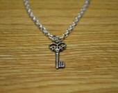 Key To My Heart Necklace - 18 Inch Length - Key Necklace - Tiny Key Charm