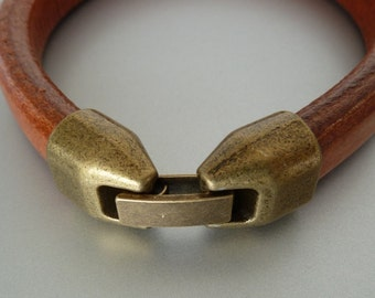 2 Clasps bronze color for extra thick leather (2 pieces) (MC3)