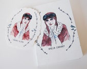 Amelia Earhart Notebook & Temporary Tattoo pack