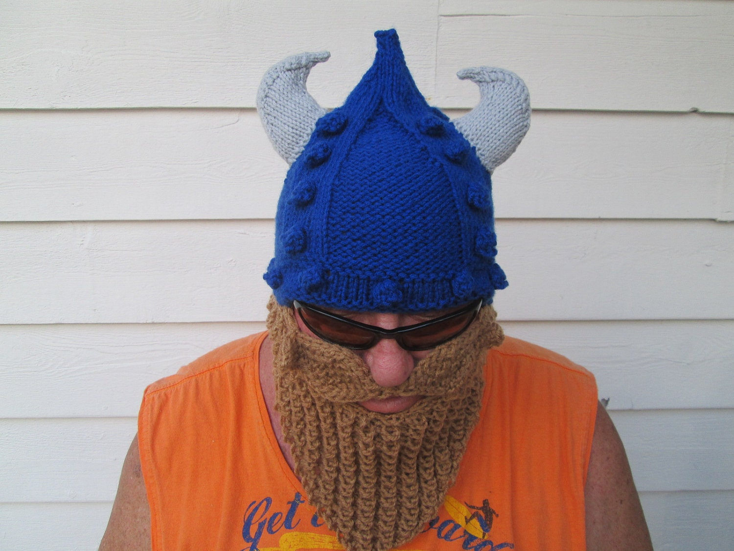 Knitted Viking Hat Hat Knitted Hat Ski Mask