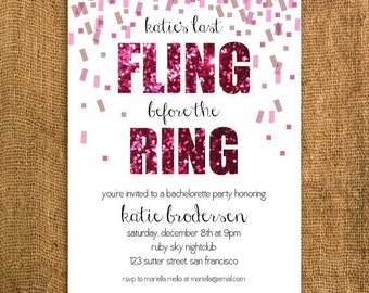DIY Printable Bachelorette Invitation