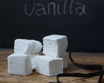 Freshly made vanilla marshmallows