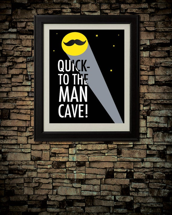 Man Cave Decor Etsy : Items similar to quick the man cave downloadable