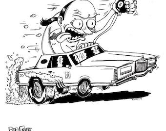 Customized Rat Fink Caricatures