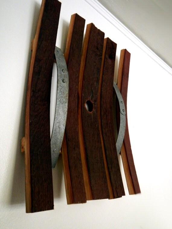 Wine Barrel Wall Art items similar to reclaimed oak wine barrel wall art on etsy
