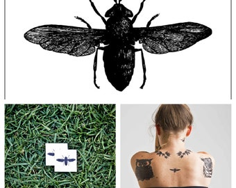 Bug - temporary tattoo (Set of 2)