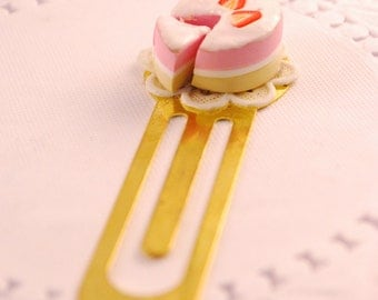 strawberry cake bookmark