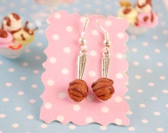 ice cream spoon earrings - food jewelry
