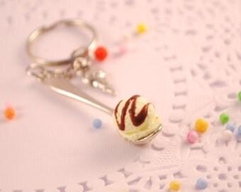 ice cream spoon key chain
