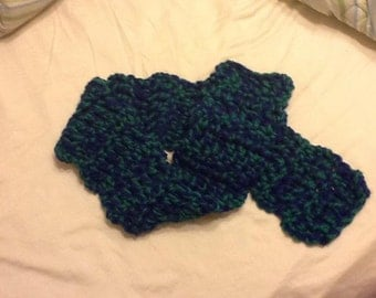 Thick soft crochet scarf